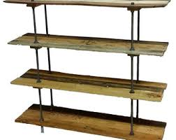 Adjustable Shelves Bookcase Vintage Industrial Style Shelf Bookcase On Casters With