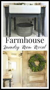 One Room One Room Challenge Farmhouse Laundry Room Reveal Twelve On Main