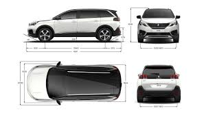 peugeot 5008 dimensions peugeot 5008 new car showroom 7 seat suv technical information