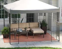Allen And Roth Curtains Pergola Belham Living Octagon Gazebo With Curtains Wonderful