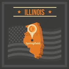 Map Of Illinois State by Map Of Illinois State Vector Image 1551390 Stockunlimited
