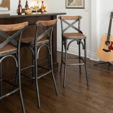 modern kitchen bar stools kosas home dixon rustic brown and black reclaimed pine and iron