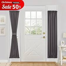 Blackout Door Panel Curtains Grey Blackout Door Curtain Pony Energy