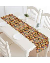 Owl Table L Here S A Great Deal On Mypop Ethnic Orange Owls Table Runner