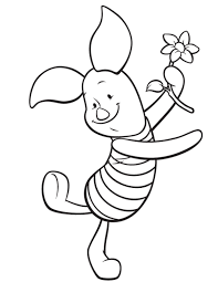 piglet pig coloring pages print winnie pooh baby shower