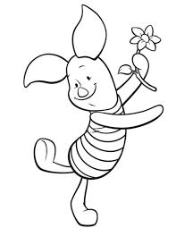 piglet pig coloring pages print winnie pooh 00