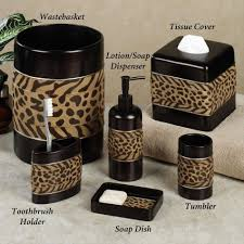 Red And Black Bathroom Accessories Sets Bathroom Jpg Red Leopard Bathroom Set Bathrooms