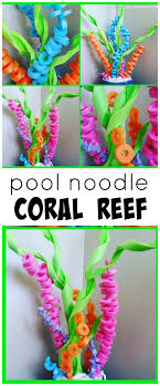the sea party pool noodle coral reef craft for an the sea party with kids