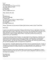 cover letter system admin resume samp es