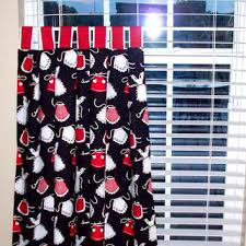 Black Curtains With Valance Kitchen Engaging Red And Black Kitchen Curtains Beautiful Gray