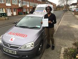 bwalya passed her automatic car driving test at ashford middlesex
