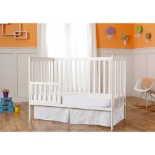 Crib Converts To Toddler Bed On Me Synergy 5 In 1 Convertible Crib White Walmart