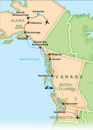Alaska Ferry Map by Mayflower Tours