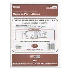 holson photo album refill pages white photo self adhesive albums ebay