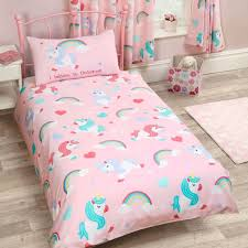 Cot Bed Duvet Cover Boys Kids Single Duvet Cover Sets Boys Girls Bedding Unicorn Dinosaur