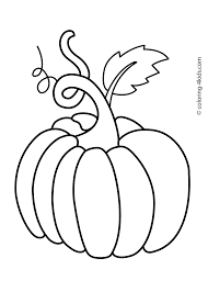 pumpkin vegetable coloring page for kids printable preschool