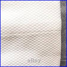Pottery Barn Waffle Weave Shower Curtain Williams Sonoma Pique Shower Curtain Chambers Waffle Cotton White