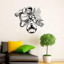 soccer goalkeeper wall decal football vinyl stickers sport details soccer wall decal football