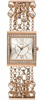 guess bracelet rose gold images Women 39 s rose gold guess crystallized chain bracelet watch u0140l3 gif