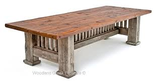 Rustic Bench Dining Table Reclaimed Barnwood Dining Table Mission Style Dining