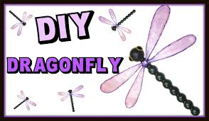 dragonfly with resin wings home decor diy project craft klatch