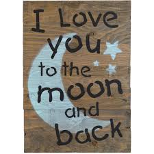 firesidehome i you to the moon and back wooden pallet sign