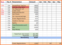 How To A Spreadsheet For Monthly Bills 10 Monthly Bill Spreadsheet Template Excel Spreadsheets