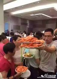 Asian Karaoke Meme - facebook video shows chinese tourists shovelling food on their