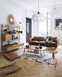 canape deco cuir du cuir dans la déco du salon interiors salons and living rooms