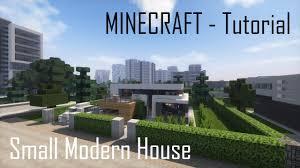 minecraft small modern house tutorial exterior youtube