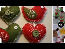 felt christmas ornaments youtube