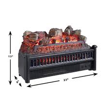 Realistic Electric Fireplace Logs by Amazon Com Pleasant Hearth Lh 24 Electric Log Insert With Heater