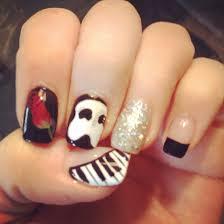 phantom nails phantom of the opera nails nails nail art nail