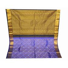 orange and blue combination buy kanchipuram silk saree with best price and collection only