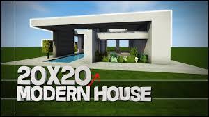 minecraft house tutorial 20x20 modern house best house tutorial