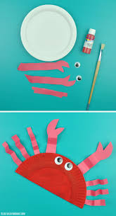diy paper plate crab vicky barone