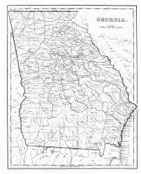 Georgia State Map by Holdridge Family Of Texas Alabama Georgia South Carolina And
