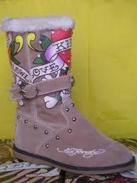 womens boots burning womens boots burning skeleton with rhinestone cheap ed hardy