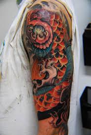 custom koi fish half sleeve cover up by frank mcmanus tattoonow