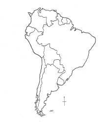outline of south america map south america clipart blank pencil and in color south america