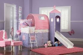 Princess Castle Twin Tent Bunk Bed With Slide White Purple - Pink bunk bed