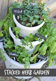 Potted Herb Garden Ideas Diy Stacked Herb Garden Hip2save