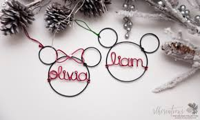 personalized mickey mouse ornament personalized disney