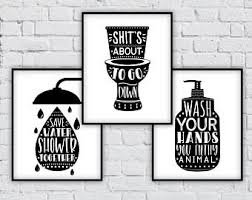 Wall Decor Bathroom Bathroom Signs Etsy