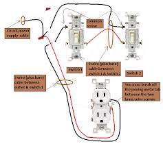 3 way switch wiring diagram power to then from that with outlet