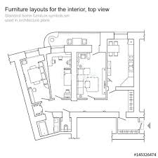 architecture home plans standard home plans standard home furniture symbols set used in