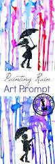 painting rain with printable art prompt art prompts printable