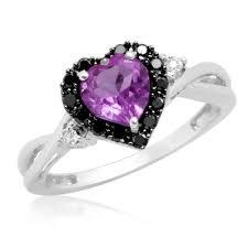 black and purple engagement rings purple wedding ring wedding corners