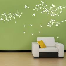 home decor trees home decor wall sticker white trees branches birds design wall