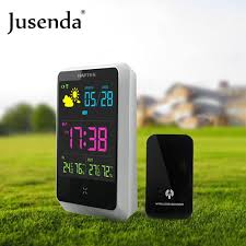gadget de bureau meteo sound cloud led alarm clock digital electronic desk clock